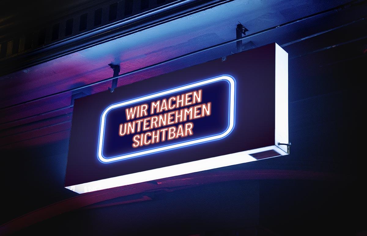 Wir machen Unternehmen sichtbar / Werbetechnik.Wien